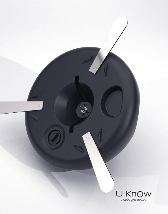 MATP38 BLACK Mono  Socle à eau 17L avec axe de rotation