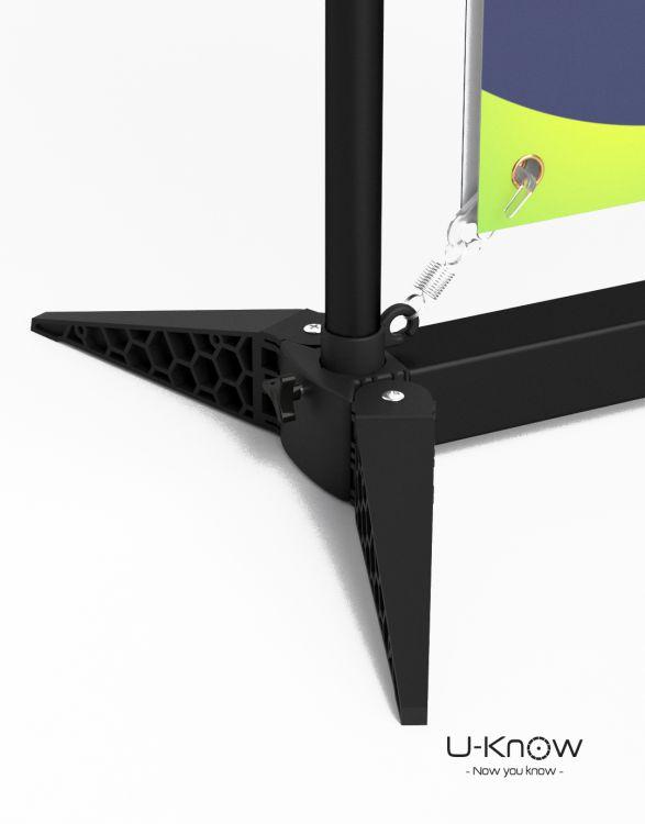 AEROSTAND 120  Stand Noir HD 85 x 200 cm