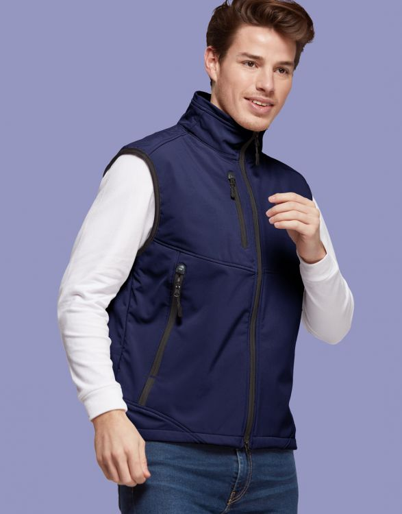 CARBONE  BODYWARMER SOFTSHELL HOMME 3 COUCHES