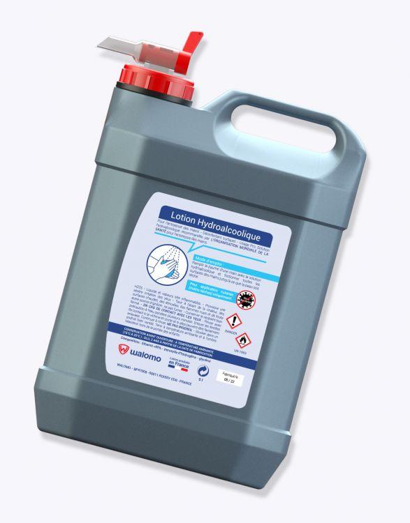 GHA 5000W  Bidon de lotion hydroalcoolique de contenance 5 litres (5000 mL)