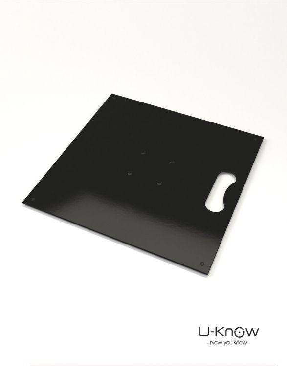 MATP12 Noir Mono  Plaque acier 4 Kg sans axe de rotation