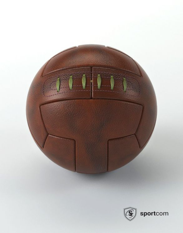 WF600  BALLON FOOTBALL OLD SCHOOL CUIR VÉRITABLE