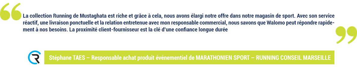 Témoignage RUNNING CONSEILMARSEILLE - Stéphane TAES